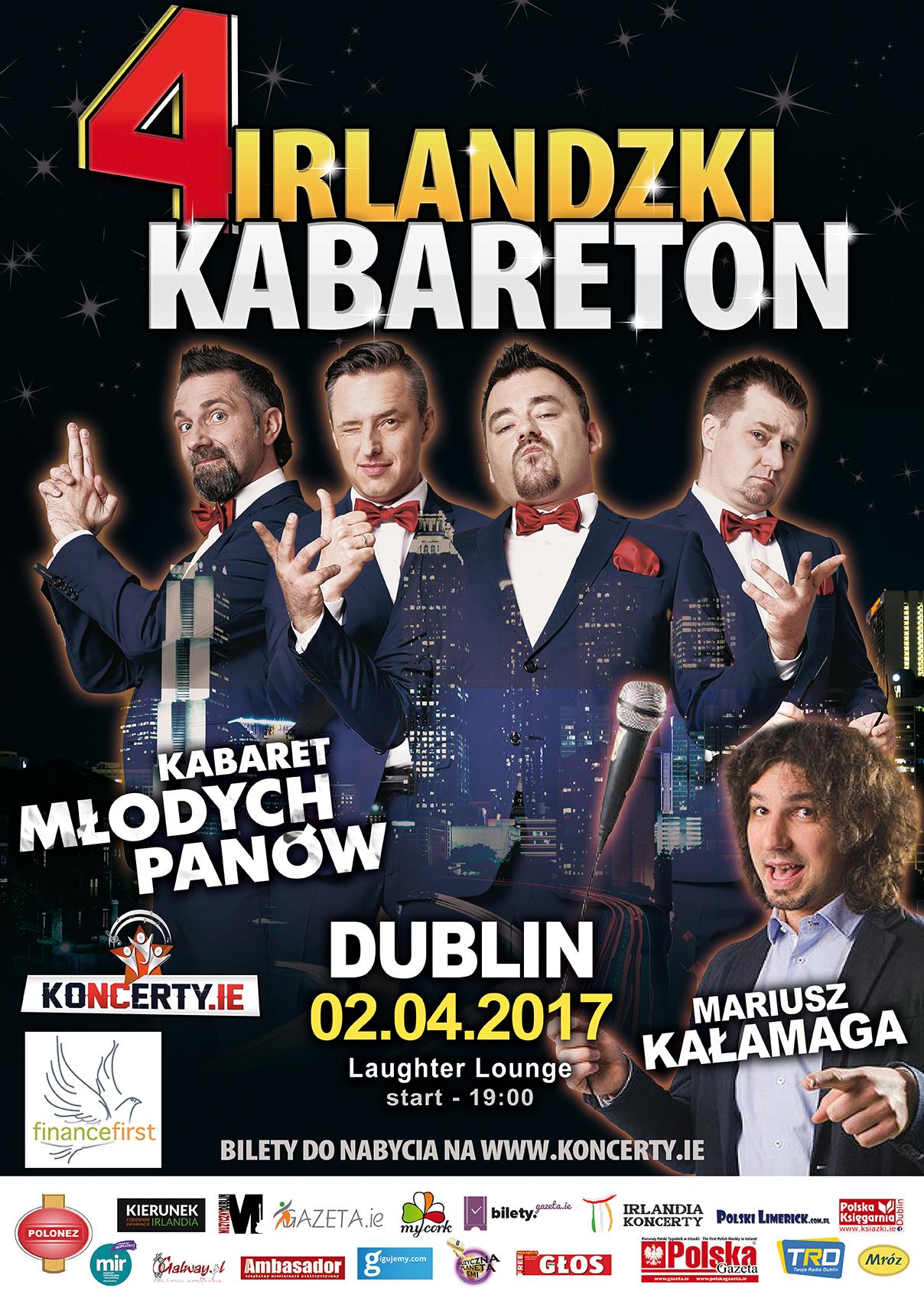 IV Irlandkzi Kabareton plakat A2 dublin (3)